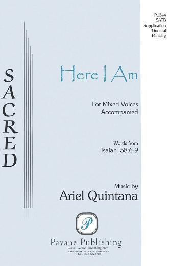 Here I Am : SSAATTBB : Ariel Quintana : Ariel Quintana : Sheet Music : 08301838 : 884088220105
