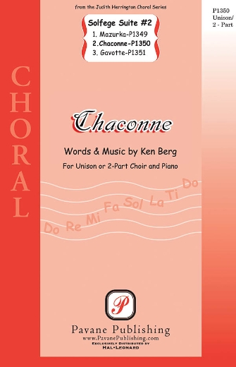 Chaconne : 2-Part : Ken Berg : Ken Berg : Sheet Music : 08301857 : 884088328641