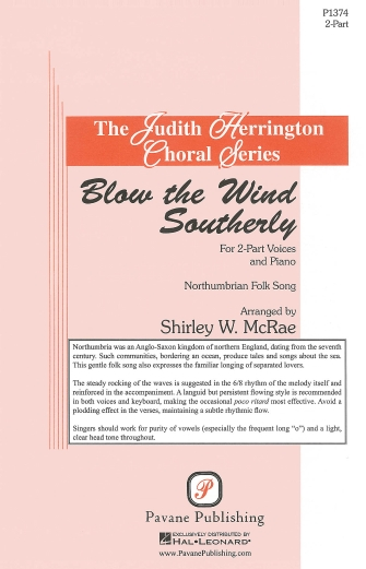 Blow the Wind Southerly : SSA : Shirley W. McRae : Sheet Music : 08301884 : 884088483814