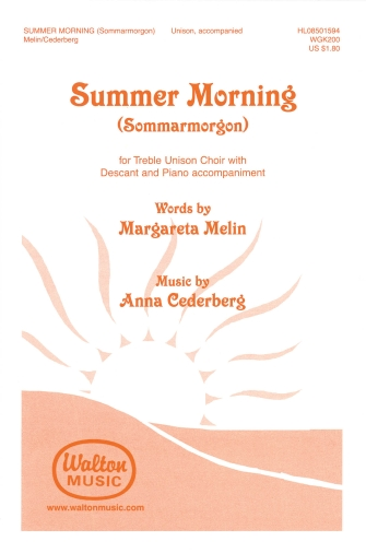 Summer Morning (Sommarmorgon) : 2-Part : 0 : Sheet Music : 08501594 : 884088064747