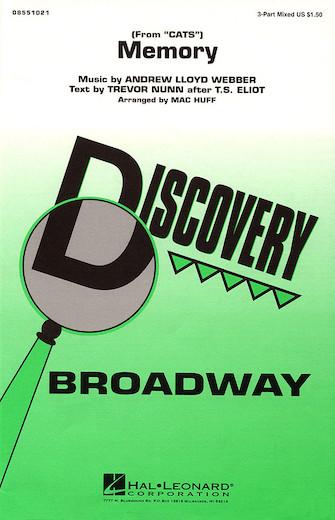 Memory : SAB : Mac Huff : Andrew Lloyd Webber : Cats : Sheet Music : 08551021 : 073999934205