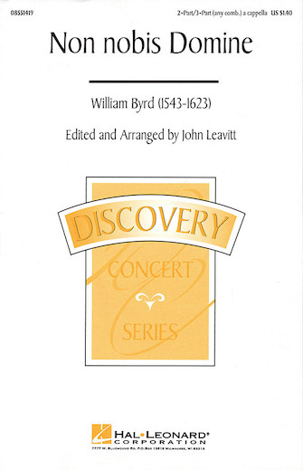 Non Nobis Domine : SAB : John Leavitt : Sheet Music : 08551419 : 073999236439