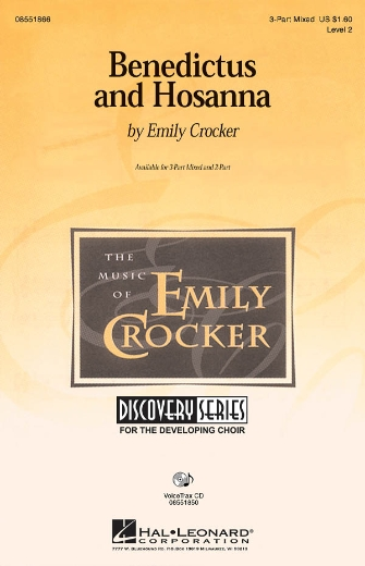 Benedictus and Hosanna : 3-Part : Emily Crocker : Emily Crocker : Sheet Music : 08551866 : 884088054953