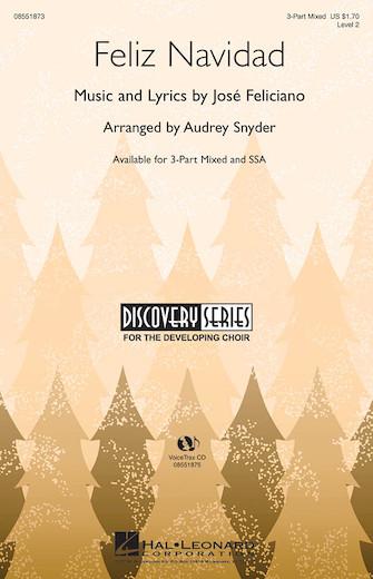 Feliz Navidad : SAB : Audrey Snyder : Jose Feliciano : Sheet Music : 08551873 : 884088059606