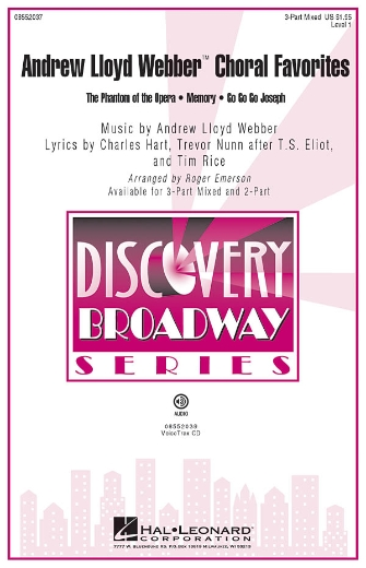 Andrew Lloyd Webber Choral Favorites : 3-Part : Roger Emerson : Andrew Lloyd Webber : Sheet Music : 08552037 : 884088213763