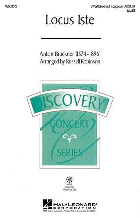 Locus Iste : 3-Part : Russell Robinson : Anton Bruckner : Sheet Music : 08552042 : 884088213824