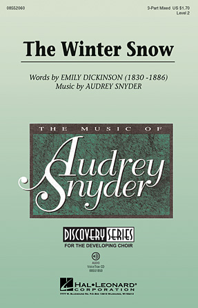 The Winter Snow : 3-Part : Audrey Snyder : Audrey Snyder : Sheet Music : 08552060 : 884088223663