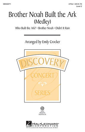 Brother Noah Built The Ark : 2-Part : Emily Crocker : Sheet Music : 08552071 : 884088239176