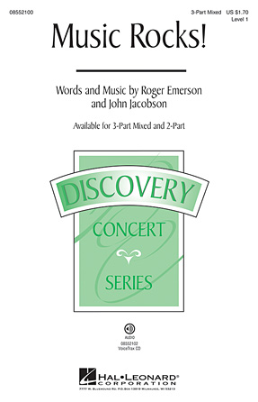Music Rocks! : 3-Part : Roger Emerson : Roger Emerson : Sheet Music : 08552100 : 884088280338