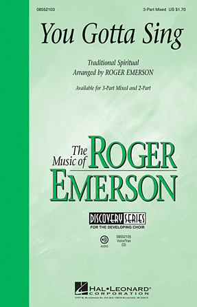 You Gotta Sing : 2-Part : Roger Emerson : Sheet Music : 08552104 : 884088280376