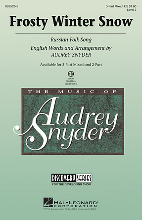 Frosty Winter Snow : 3-Part : Audrey Snyder : Sheet Music : 08552243 : 884088396275