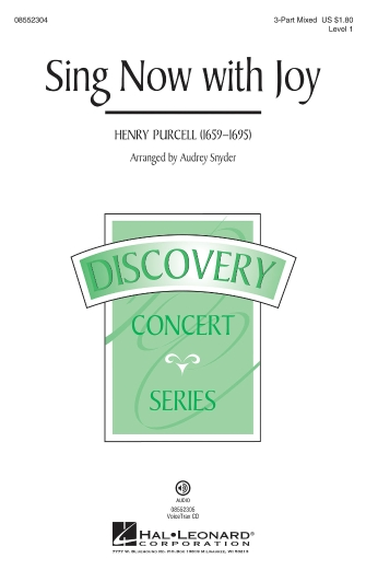 Sing Now with Joy : 3-Part : Audrey Snyder : Henry Purcell : Sheet Music : 08552304 : 884088547295