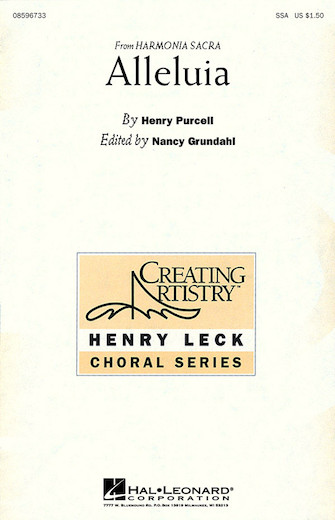 Alleluia : SSA : Nancy Grundahl : Sheet Music : 08596733 : 073999967333