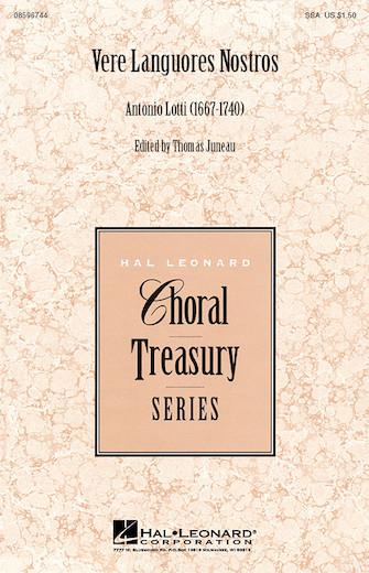 Vere Languores Nostros : SSA : Thomas Juneau : Sheet Music : 08596744 : 073999967449
