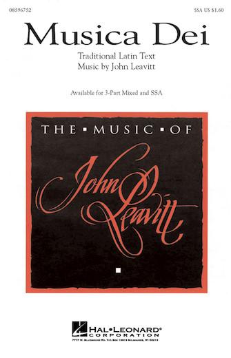 Musica Dei : SSA : John Leavitt : John Leavitt : Sheet Music : 08596752 : 073999278521