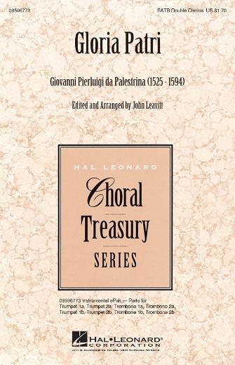 Gloria Patri : SATB : Giovanni Pierluigi da Palestrina : Giovanni Pierluigi da Palestrina : Sheet Music : 08596772 : 884088138172