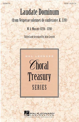 Laudate Dominum : SATB : John Leavitt : Wolfgang Amadeus Mozart : Sheet Music : 08596776 : 884088147891