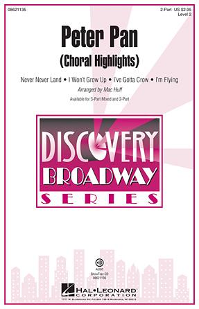 Peter Pan (Choral Highlights) : 2-Part : Mac Huff : Peter Pan : Sheet Music : 08621135 : 073999609783