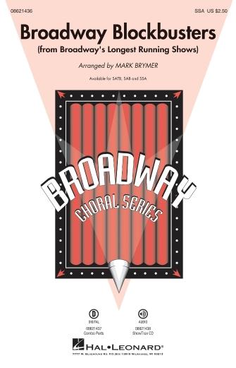 Broadway Blockbusters : SSA : Mark Brymer : Sheet Music : 08621436 : 884088063870