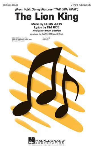 The Lion King (Medley) : 2-Part : Mark Brymer : The Lion King : Sheet Music : 08637500 : 073999375008