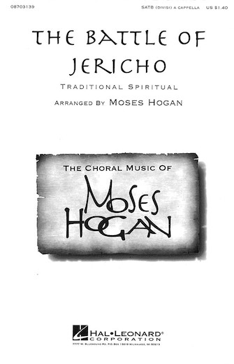 The Battle of Jericho : SATB : Moses Hogan : Sheet Music : 08703139 : 073999031393