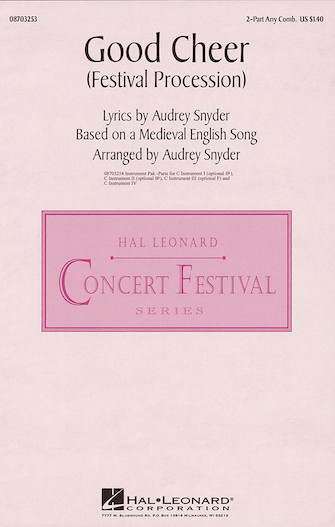 Good Cheer : 2-Part : Audrey Snyder : Sheet Music : 08703253 : 073999032536
