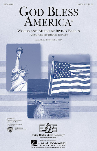 God Bless America : SSA : Bruce Healey : Irving Berlin : Sheet Music : 08703318 : 073999750102
