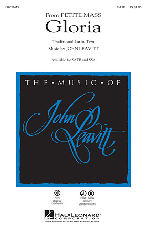 Gloria : SATB : John Leavitt : John Leavitt : Sheet Music : 08703419 : 884088632403