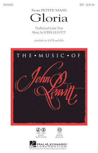 Gloria : SSA : John Leavitt : John Leavitt : Sheet Music : 08703420 : 884088632410