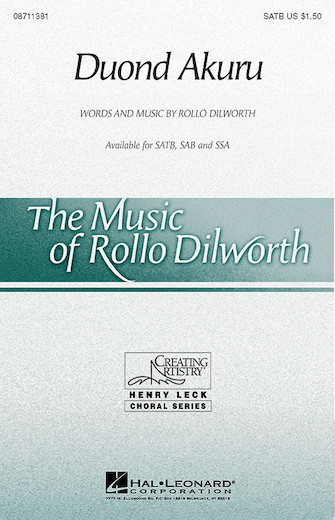 Duond Akuru : SATB : Rollo Dilworth : Sheet Music : 08711381 : 073999113815