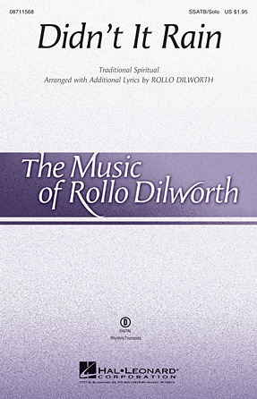 Didn't It Rain : SSATB : Rollo Dilworth : Sheet Music : 08711568 : 884088646004