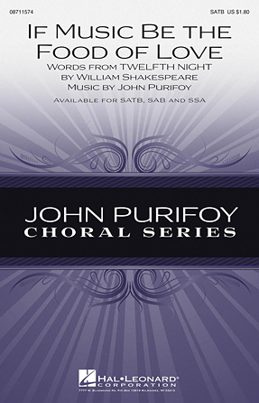 If Music Be the Food of Love : SSA : John Purifoy : John Purifoy : Sheet Music : 08711576 : 884088647810