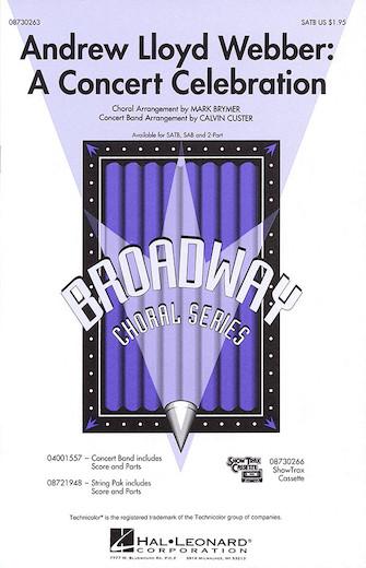 Andrew Lloyd Webber: A Concert Celebration (Medley) : SATB : Mark Brymer : Andrew Lloyd Webber : Sheet Music : 08730263 : 073999302639