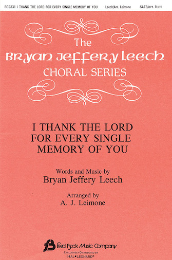 Product Cover for I Thank the Lord for Every Single Memory of You