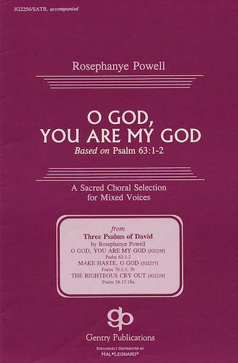 O God, You Are My God : SATB : Rosephanye Powell : Rosephanye Powell : Sheet Music : 08739094 : 073999390940