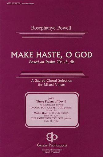 Make Haste, O God : SATB : Rosephanye Powell : Rosephanye Powell : Sheet Music : 08739095 : 073999390957