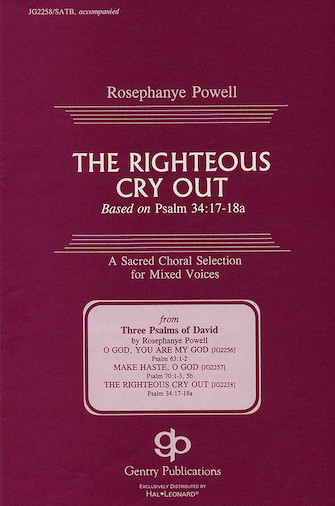 The Righteous Cry Out : SATB : Rosephanye Powell : Rosephanye Powell : Sheet Music : 08739096 : 073999390964