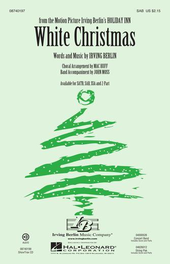 White Christmas : SAB : Mac Huff : Irving Berlin : Sheet Music : 08740197 : 073999782127