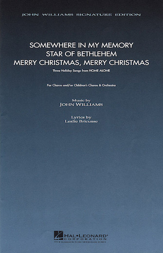 Three Holiday Songs from Home Alone : SATB : Leslie Bricusse : Leslie Bricusse : Home Alone : Sheet Music : 08740830 : 073999408300