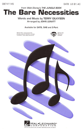 The Bare Necessities : SATB : John Leavitt : Richard M. Sherman : Jungle Book : Sheet Music : 08741145 : 073999685589