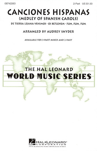 Canciones Hispanas : 2-Part : Audrey Snyder : Sheet Music : 08742263