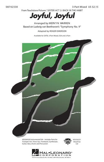 Joyful, Joyful : SAB : Roger Emerson : Alan Menken : Sister Act : Sheet Music : 08742330 : 073999423303