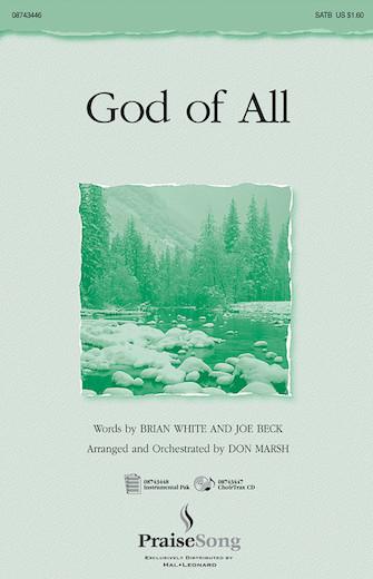 God of All : SATB : Don Marsh : Joe Beck : Sheet Music : 08743446 : 073999434460