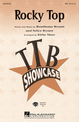 Rocky Top : TBB : Kirby Shaw : Felice and Boudleaux Bryant : Sheet Music : 08744378 : 073999802320