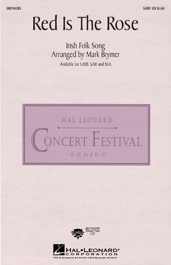 Red Is the Rose : SAB : Mark Brymer : Sheet Music : 08744386 : 073999443868