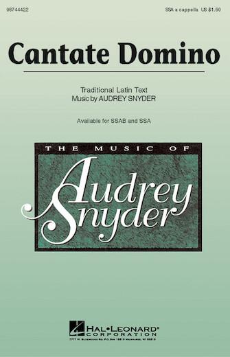 Cantate : SSA : Audrey Snyder : Audrey Snyder : Sheet Music : 08744422 : 073999117622