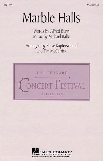 Marble Halls : SSA : Steve Kupferschmid/Tim McCarrick : Enya : Sheet Music : 08744971 : 073999966848