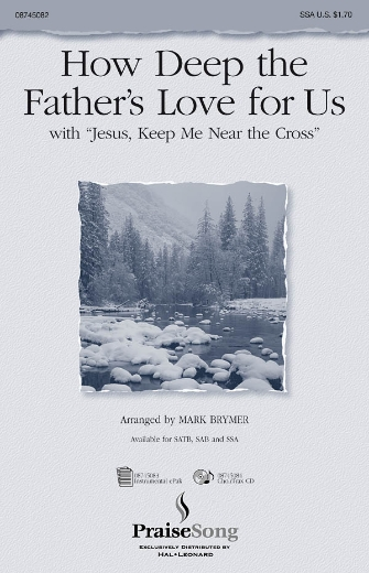 """Product Cover for How Deep the Father's Love For Us (with """"Jesus Keep Me Near the Cross"""")"""