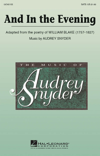 And In The Evening : SATB : Audrey Snyder : Audrey Snyder : Sheet Music : 08745155 : 884088015169