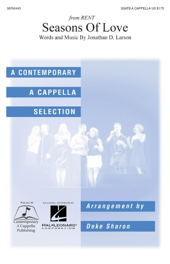 Seasons Of Love : SATB : Deke Sharon : Jonathan Larson : Rent : Sheet Music : 08745440 : 884088066581